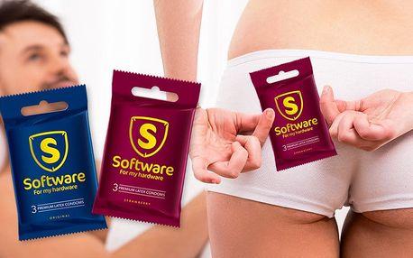 Balíček 48 kondomů značky Software a osuška