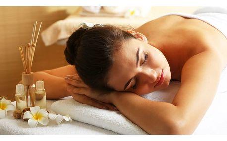 Báječný relax při masáži až 90 minut dlouhé