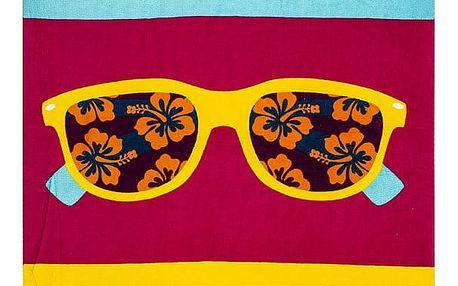 JAHU Plážová osuška Sluneční brýle, 70 x 150 cm