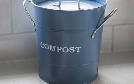Garden Trading Plechový kyblík na kompost Dorset Blue 3,5 l, modrá barva, kov