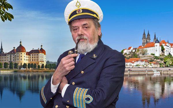 Plavba do Míšně, zámek Moritzburg a busem zpět