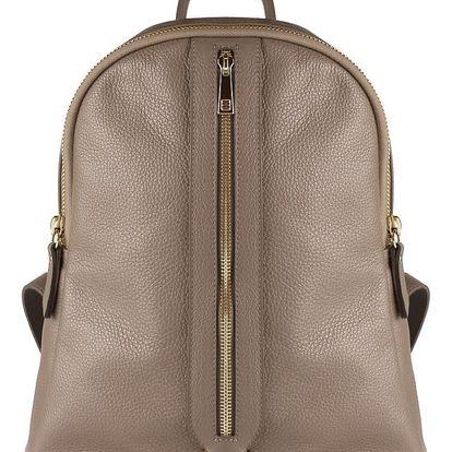 Béžový kožený batoh Maison Bag Lisa