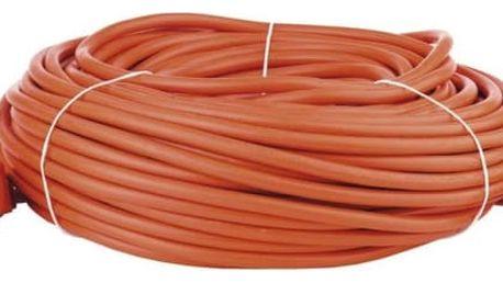 Kabel prodlužovací EMOS 1x zásuvka, 40m oranžový (1901014000)