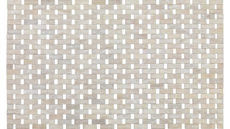 Podložka bambusová BAMBOO, koupelnový kobereček, bílá barva, WENKO