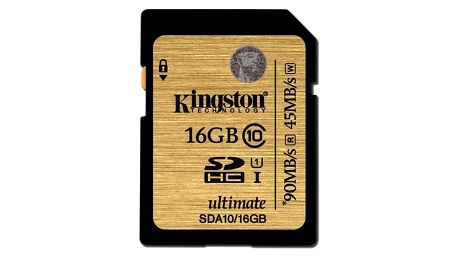 Paměťová karta Kingston SDHC 16GB UHS-I U1 (90R/45W) (SDA10/16GB)