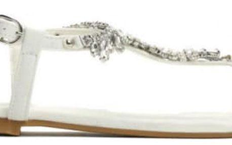 Dámské bílé sandály Alica 7264