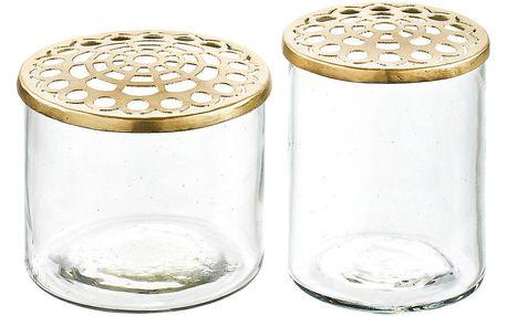 Sada 2 váz s víkem A Simple Mess Kastanje