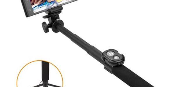 Selfie tyč GoGEN 5 teleskopická, bluetooth černá (GOGBTSELFIE5B)