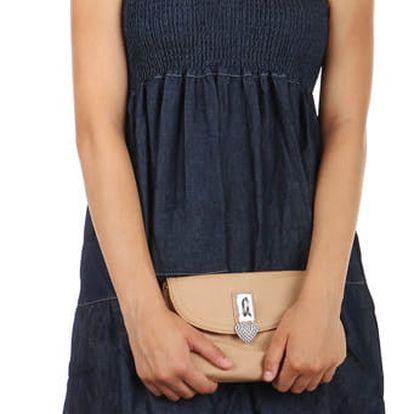 Vzdušné denimové šaty se vzorem tmavě modrá