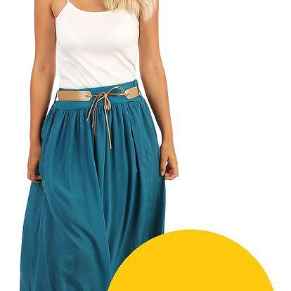 Dámská maxi sukně s kapsami žlutá