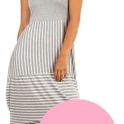 Letní plážové šaty s balonovou sukní světle růžová