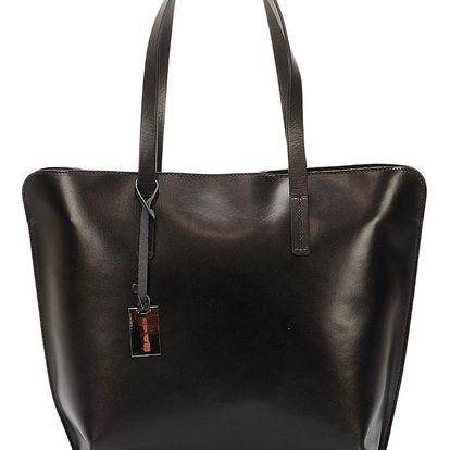 Černá kožená kabelka Giorgio Costa Gerogina