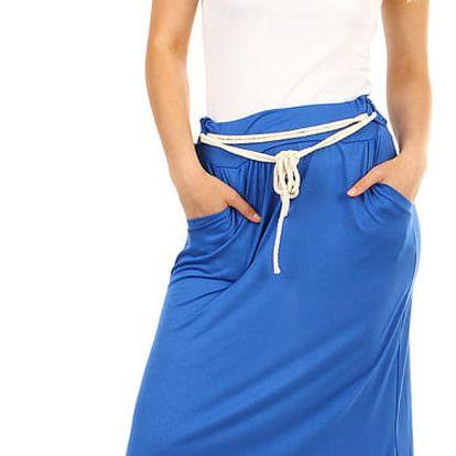 Dámská dlouhá jednobarevná sukně modrá