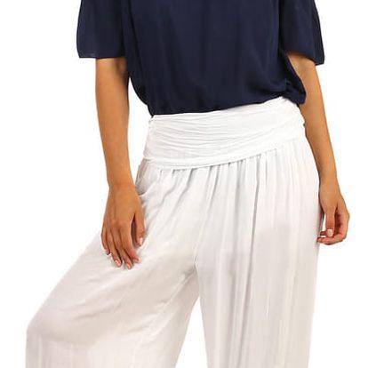 Dámské harémové kalhoty bílá