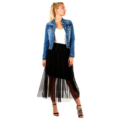 Dlouhá dámská tylová sukně černá