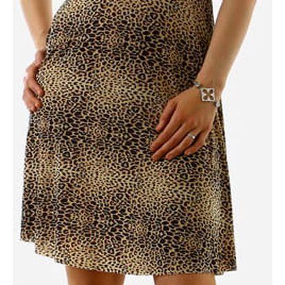 Dámské šaty se zvířecím vzorem hnědá
