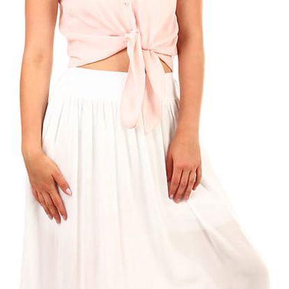 Dámská maxi sukně s kapsami bílá