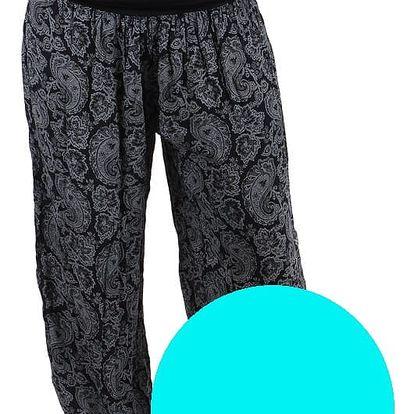 Dámské vzorované harémové kalhoty světle modrá