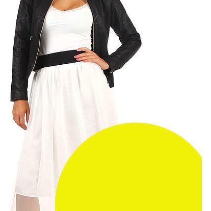 Dámská romantická tylová sukně žlutá