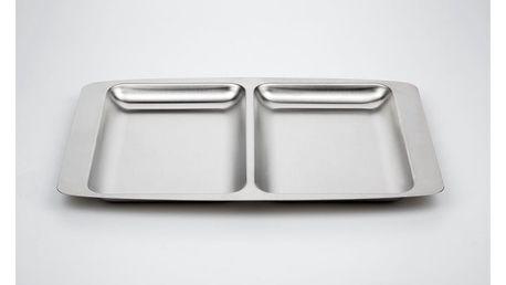 Dělený servírovací tác Steel Function, 32x22 cm
