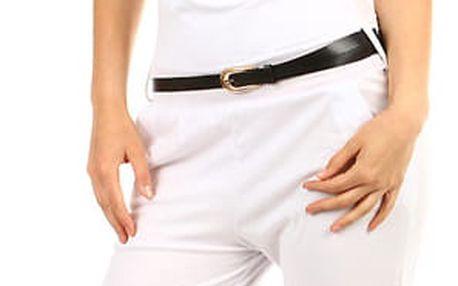 Dámský dlouhý jednobarevný overal bílá