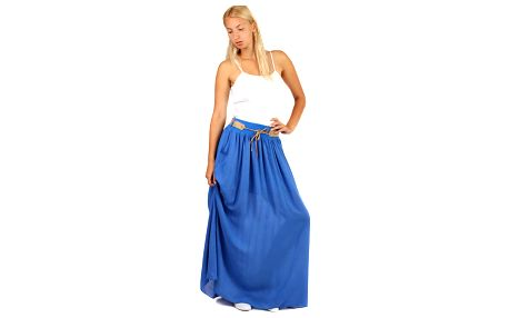Dámská maxi sukně s kapsami modrá