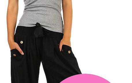 Harémové dámské kalhoty světle růžová