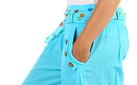 Harémové dámské kalhoty modrá