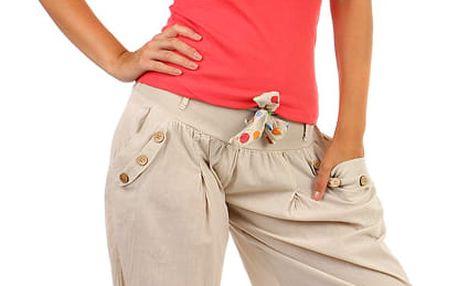 Harémové dámské kalhoty béžová