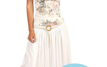 Romantická dámská maxi sukně světle modrá