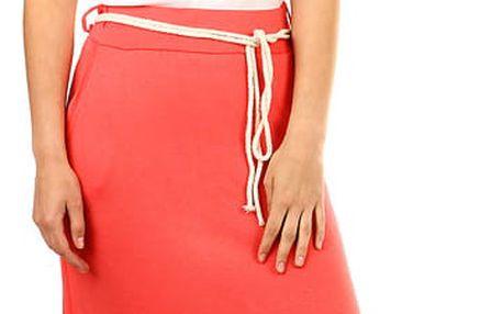 Dámská dlouhá jednobarevná sukně korálová