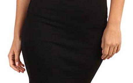 Dámská prošívaná business sukně - i pro plnoštíhlé černá