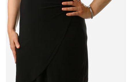 Dámské šaty se zavinovacím efektem - i pro plnoštíhlé černá