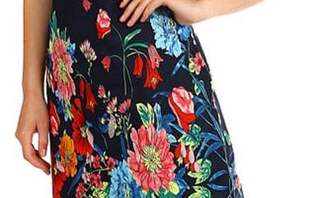 Krátké dámské šaty- pro plnoštíhlé tmavě modrá