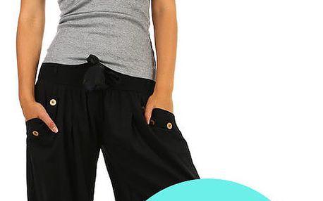 Harémové dámské kalhoty světle zelená