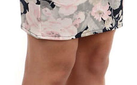 Dámská sukně s květinovým vzorem béžová