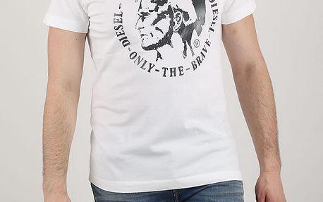 Tričko Diesel T-ULYSSE MAGLIETTA Bílá