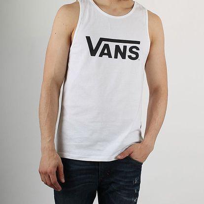 Tričko Vans Mn Classic Tank White/Black Bílá