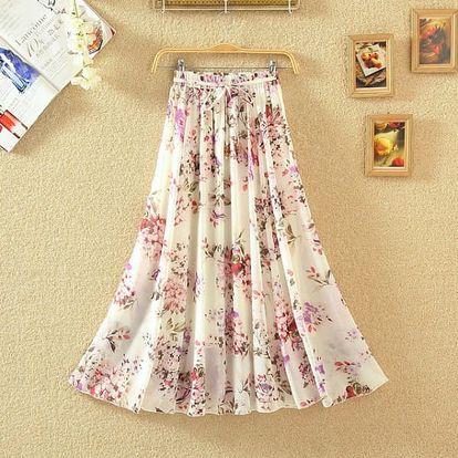 Dlouhá bohémská sukně s květinovými motivy - 26 variant