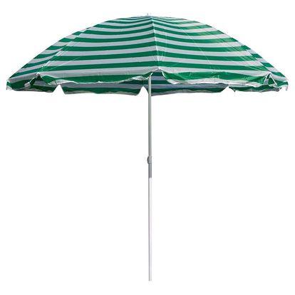 Slunečník plážový 180 cm, Happy Green, zelené pruhy