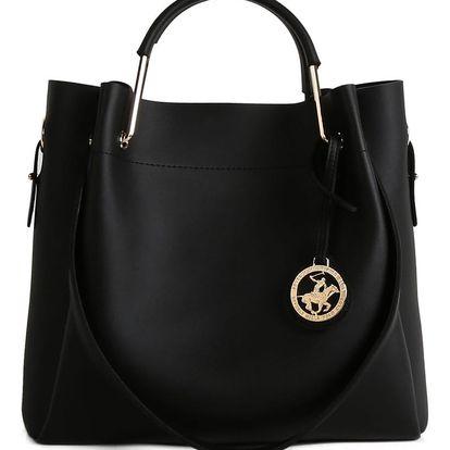 Černá kabelka z eko kůže Beverly Hills Polo Club Amy