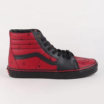 Boty Vans UA Sk8-Hi (Marvel) Deadpool/Black Červená