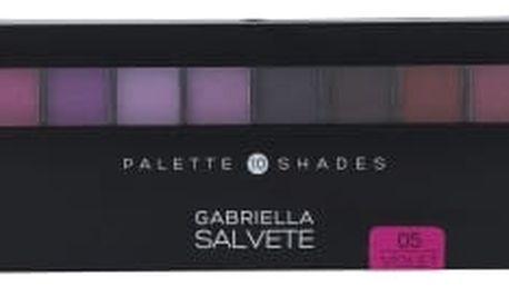 Gabriella Salvete Palette 10 Shades 12 g oční stín pro ženy 05 Violet