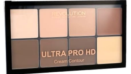 Makeup Revolution London Ultra Pro HD Cream Contour Palette 20 g pudr pro ženy Light Medium