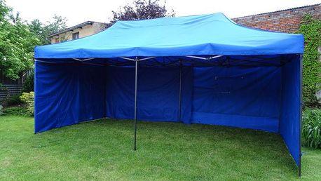 Tradgard DELUXE 41519 Zahradní párty stan nůžkový + boční stěny - 3 x 6 m modrá