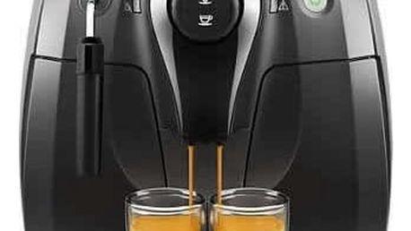 Espresso Philips HD8651/09 černé + dárky Káva zrnková Simon Lévelt BIO Uganda 250 g + Káva zrnková Jacobs L'OR Crema Absolu CLASSIQUE 500g v hodnotě 418 Kč + DOPRAVA ZDARMA