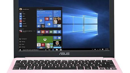 Notebook Asus VivoBook E12 E203NA-FD109TS + Office 365 růžový + dárky (E203NA-FD109TS)