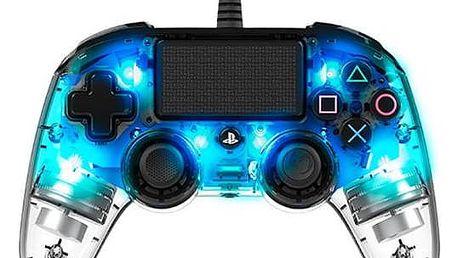 Nacon Wired Compact Controller pro PS4 (ps4hwnaconwicccblue) modrý/průhledný