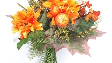 Umělá kytice jiřin