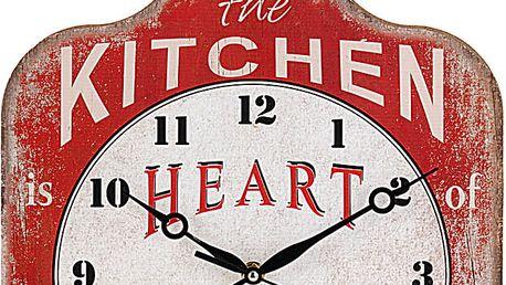 Emako Kuchyňský nástěnné hodiny Krájecí prkénko, dřevěný